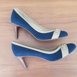 Tommy Hilfiger Blue Fabric Pumps 8.5